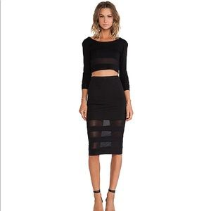 Lovers + friends pencil skirt and crop top set